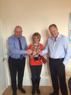 Janet pictured centre, to her left is Jan Kroll company Director and to her right, Peter Aaqrosin Managing Director